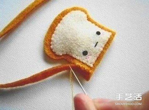 不織布小掛件手工製作 簡單布藝掛飾DIY圖解