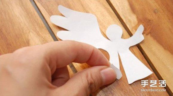A4纸做贺卡的方法 创意立体天使贺卡手工制作 -  www.shouyihuo.com