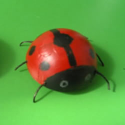简单幼儿小手工:乒乓球制作七星瓢虫的