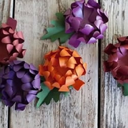 如何折纸立体菊花 手工制作菊花的折法图解
