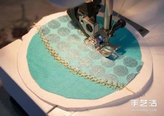 不織布掛件手工製作 圓形刺繡風掛飾DIY圖解