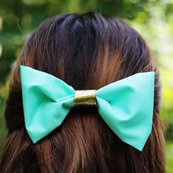 蝴蝶结发卡怎么做 DIY蝴蝶结发卡的做法图解