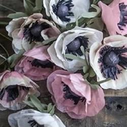 银莲花的制作方法图解 棉纸银莲花的做法
