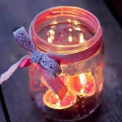 玻璃烛台加工方法 简单玻璃瓶烛台DIY制作图解