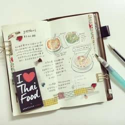 马来西亚女生做的旅行手账日记 清新又很有爱