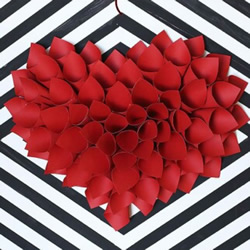 大气爱心装饰的做法图解 简单立体心形