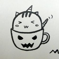 偷喝苦咖啡的卡通小猫咪简笔画的画法图