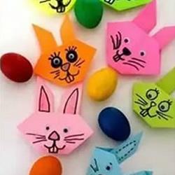 如何折�兔子�^ 幼�赫奂�兔子�^的折法�D