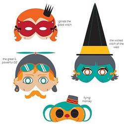 手工纸面具制作方法 简单手绘半脸面具图案