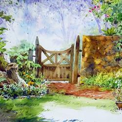 马来西亚画家郭绍鹏的风景水彩画作品图片