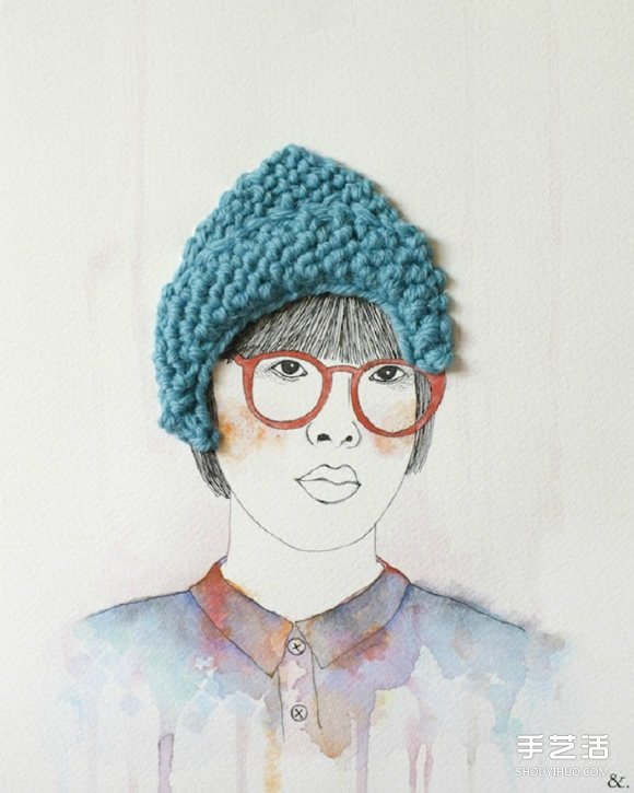 将插画和刺绣完美结合 DIY出独特的创意画作 -  www.shouyihuo.com