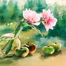 Delphine Poussot 唯美水彩画作品图片欣赏
