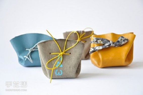 皮革束口包製作教程 簡單束口包的做法圖解
