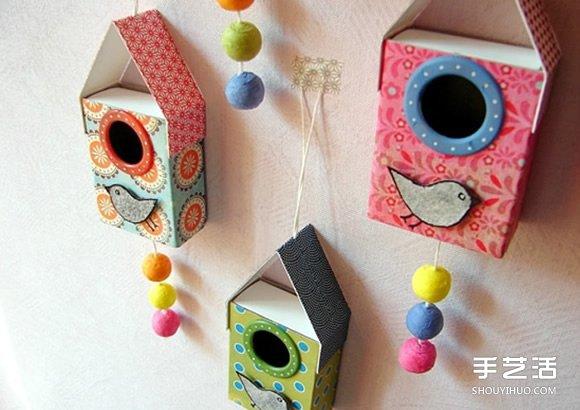 儿童鸟窝的制作方法 简单鸟窝挂饰的做法教程 -  www.shouyihuo.com