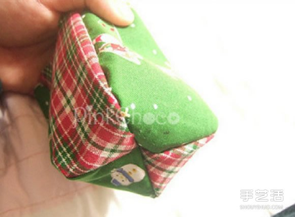 聖誕風口金包製作教程 可愛口金包的做法圖解