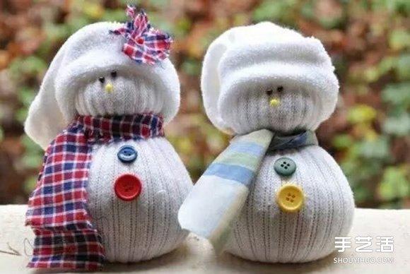 襪子雪人的製作方法 襪子娃娃雪人DIY步驟圖解