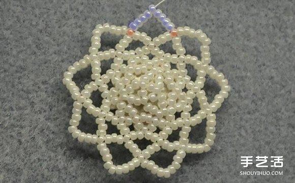 串珠胸針DIY教程 手工胸花串珠製作步驟圖解