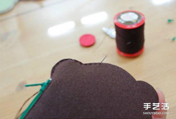 不織布冰激凌零錢包製作 手工布藝零錢包DIY