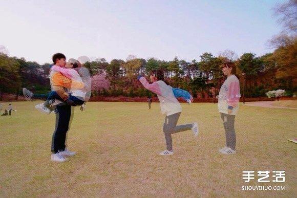 韓式肉麻情侶照相姿勢 韓國情侶攝影姿勢圖片