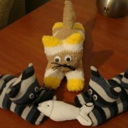 袜子制作趴趴猫的方法 趴趴猫毛绒玩具制作