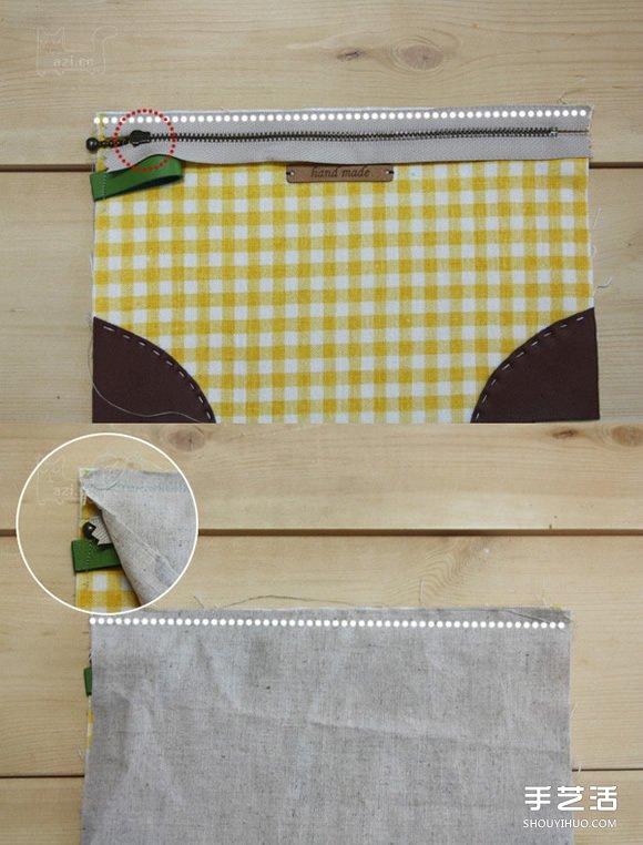 自製韓式化妝包的做法 手工布藝化妝包製作
