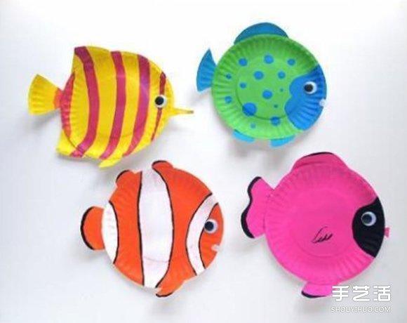 一次性餐盤手工製作小魚 餐盤小魚的簡單做法