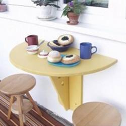 安装到墙上的可折叠密度板咖啡桌制作教程