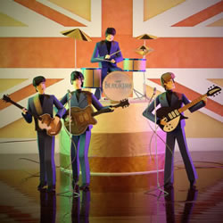 细腻的折纸人偶作品 还组成乐队表演节目哦!