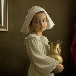 模仿世界名画拍摄的儿童摄影作品 超有创