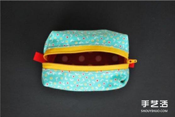 長方形化妝包製作方法 簡單布藝化妝包DIY教程