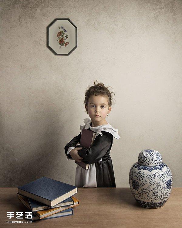 模仿世界名畫拍攝的兒童攝影作品 超有創意!
