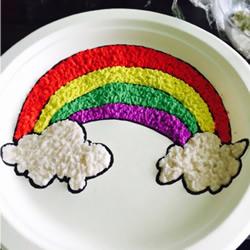 一次性餐盘画彩虹 创意幼儿园餐盘画制作