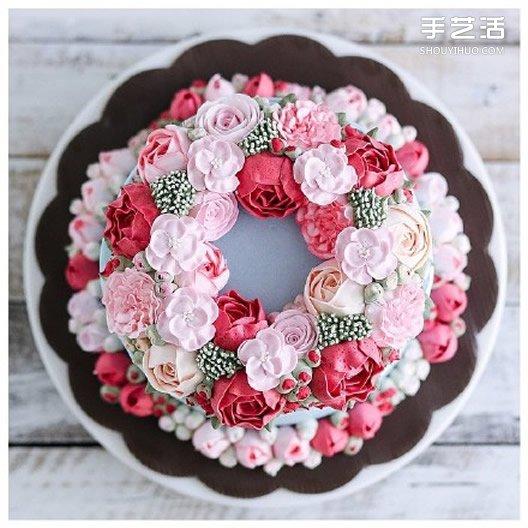 超美裱花蛋糕图片 裱花也能玩得这么出神入化