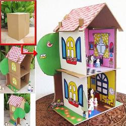 儿童纸房子手工制作方法 纸房子模型制作