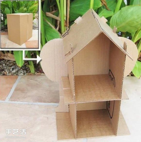 儿童纸房子手工制作方法 纸房子模型制作图解 -  www.shouyihuo.com