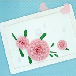 立体花朵装饰画DIY 简单手工制作立体花装饰画