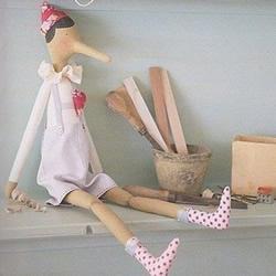 不织布匹诺曹娃娃DIY 手工布艺制作匹诺曹人偶
