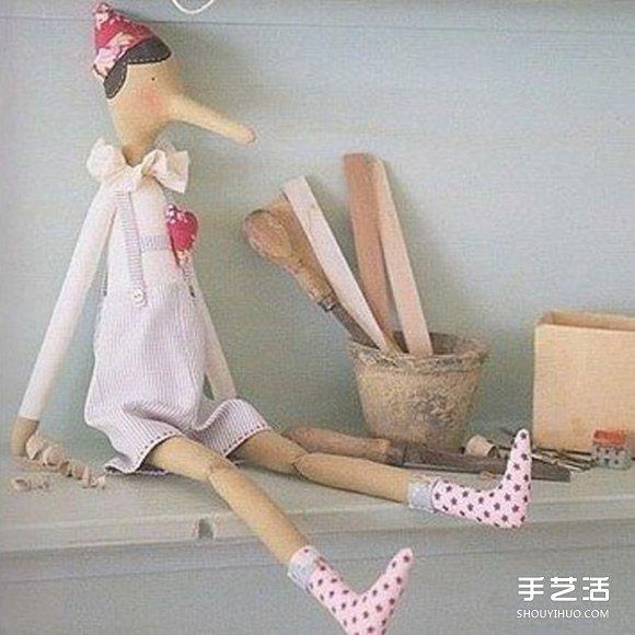 不织布匹诺曹娃娃DIY 手工布艺制作匹诺曹人偶 -  www.shouyihuo.com