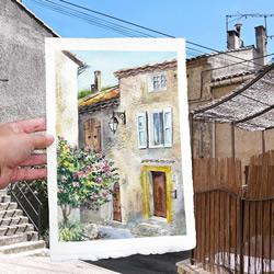 画家用水彩画取代相机 捕捉旅行的沿途美景