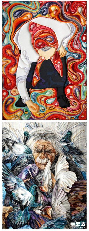 立体衍纸画作品图片 超有艺术感的衍纸画 -  www.shouyihuo.com
