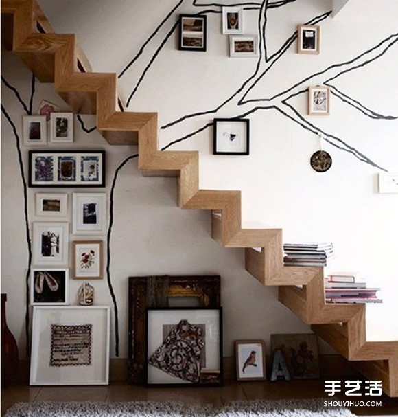簡單牆畫手繪DIY 可以自己完成的牆上手繪畫