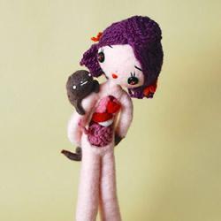 恐怖!让人毛骨悚然的羊毛毡人偶作品图
