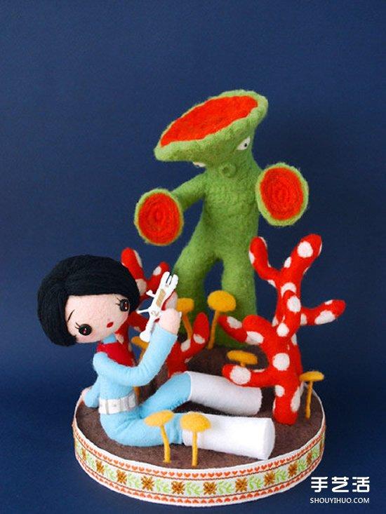 恐怖!让人毛骨悚然的羊毛毡人偶作品图片 -  www.shouyihuo.com