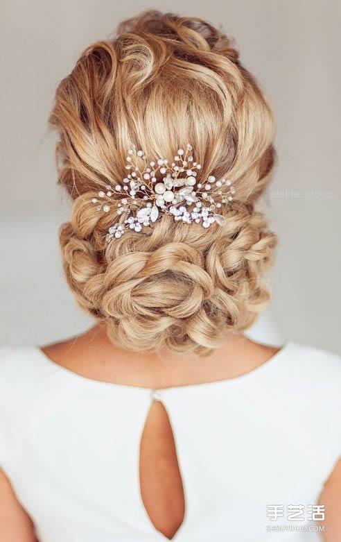 簡約浪漫的婚禮盤發造型 供準新娘們參考!