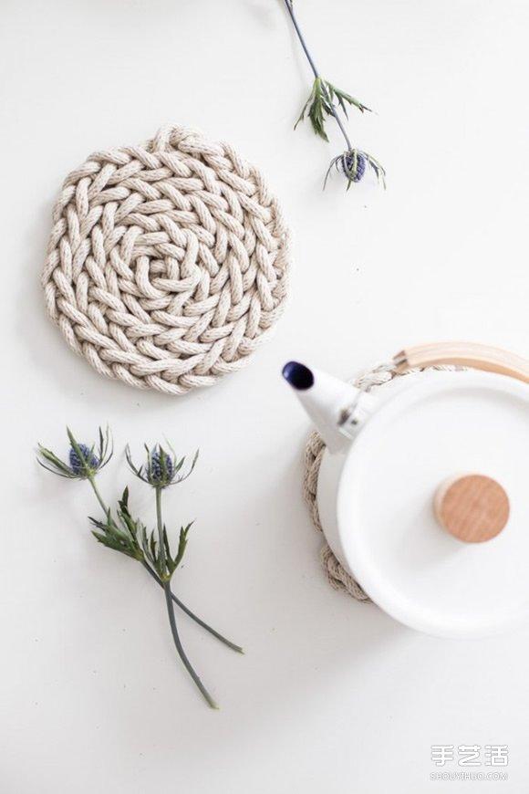 自製手工編織棉繩杯墊 讓你愛上簡約自然風~