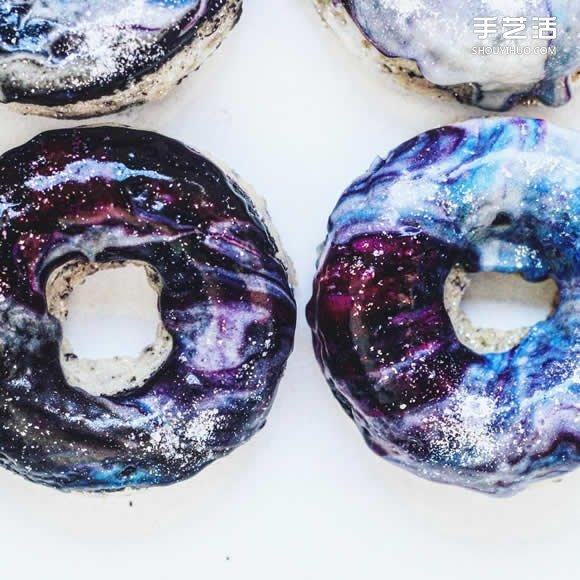 创意银河系甜甜圈 让甜食拥有奇幻浪漫色彩