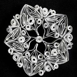 卷纸芯创意手工制作雪花 卷纸芯做雪花的