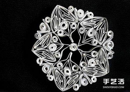 捲紙芯創意手工製作雪花 捲紙芯做雪花的方法