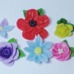 超轻粘土玫瑰花制作 粘土花玫瑰花DIY图解