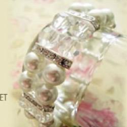 超好看双排珍珠水晶手链的串法图解步骤